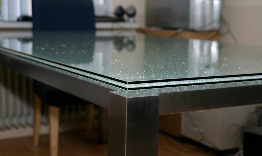 Handgemaakte RVS salontafel