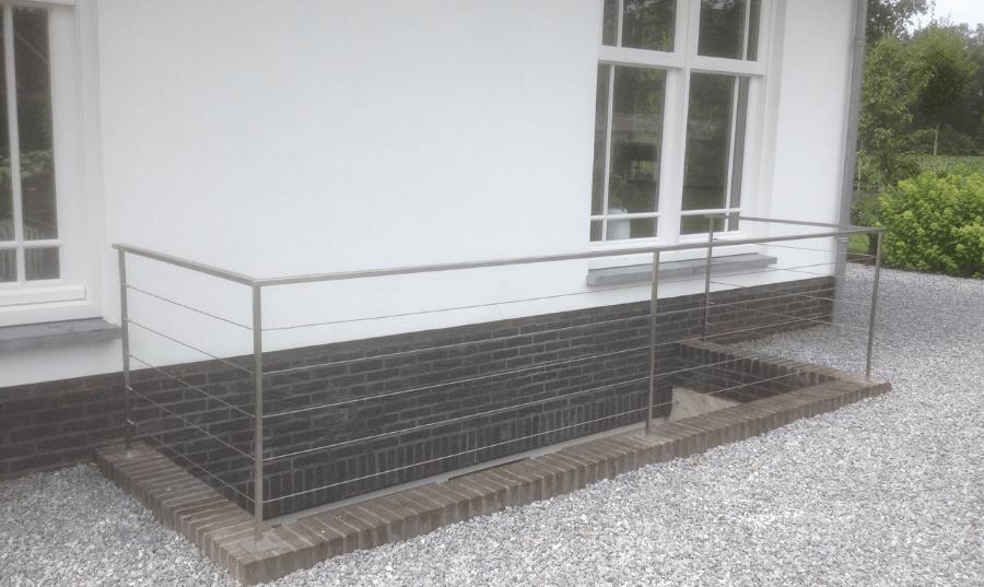 RVS balustrade met spandraden